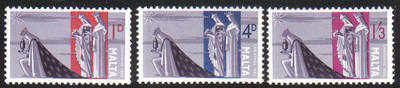 Malta Stamps SG 0359-61 1965 Christmas - MINT