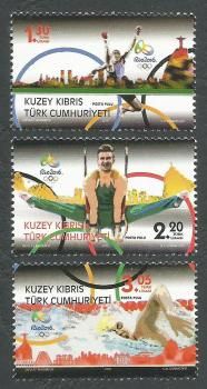 North Cyprus Stamps SG 2016 (b) Brazil Rio Olympic Games - MINT