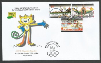 North Cyprus Stamps SG 2016 (b) Brazil Rio Olympic Games - Official FDC