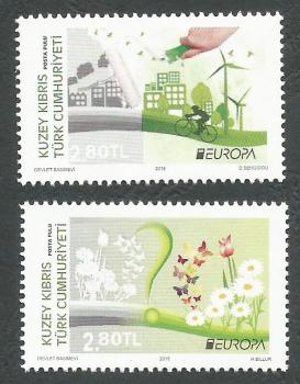 North Cyprus Stamps SG 2016 (c) Europa Think Green - MINT