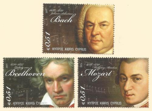 Cyprus Stamps SG 1238-40 2011 Famous Composers of 18th Century - MINT
