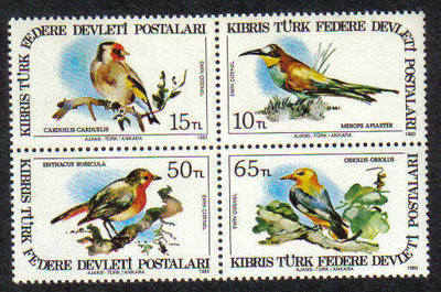 North Cyprus Stamps SG 140-43 1983 Birds of Cyprus - MINT