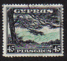 Cyprus Stamps SG 143 1934 KGV Definitives 45 Piastres - USED (c911)