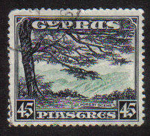 Cyprus Stamps SG 143 1934 KGV Definitives 45 Piastres - USED (c910)