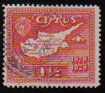 Cyprus Stamps SG 125 1928 One and a half Piastres - USED (c918)