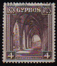 Cyprus Stamps SG 127 1928 Four Piastres - Used (c922)