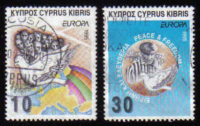 Cyprus Stamps SG 883-84 1995 Europa Peace and Freedom - USED (c914)