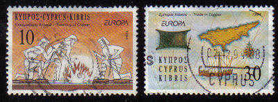 Cyprus Stamps SG 847-48 1994 Europa - USED (c915)