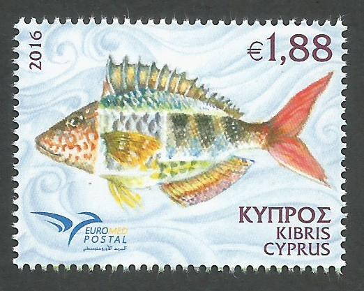 Cyprus Stamps SG 2016 (e) Euromed Fish of the Mediterranean - MINT