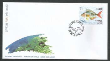 Cyprus Stamps SG 2016 (e) Euromed Fish of the Mediterranean - Official FDC