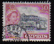 Cyprus Stamps SG 195 1960 Definitives 30 Mils - USED (c939)