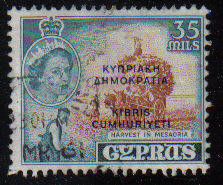 Cyprus Stamps SG 196 1960 Definitives 35 Mils - USED (c940)