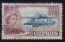 Cyprus Stamps SG 198 1960 Definitives 50 Mils - USED (c945)
