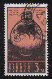 Cyprus Stamps SG 211 1962 Definitive Views 3 Mils - USED (c951)