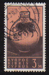 Cyprus Stamps SG 211 1962 Definitive Views 3 Mils - USED (c952)