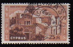 Cyprus Stamps SG 215 1962 Definitive Views 25 Mils - USED (c960)
