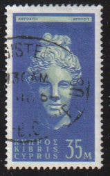 Cyprus Stamps SG 217 1962 Definitive Views 35 Mils - USED (c963)