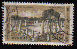 Cyprus Stamps SG 219 1962 Definitive Views 50 Mils - USED (c969)