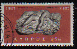 Cyprus Stamps SG 288 1966 2nd Definitives Antiquities 25 Mils - Used (c986)