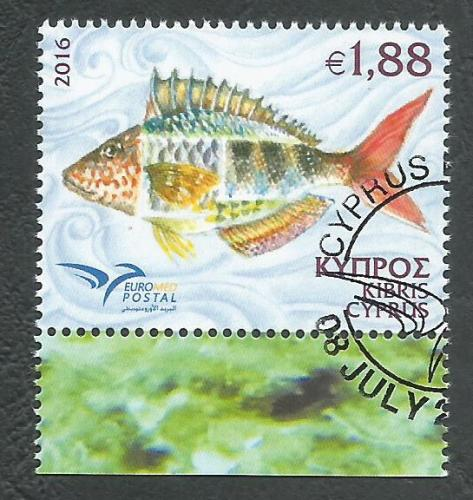 Cyprus Stamps SG 2016 (e) Euromed Fish of the Mediterranean - CTO USED (K31