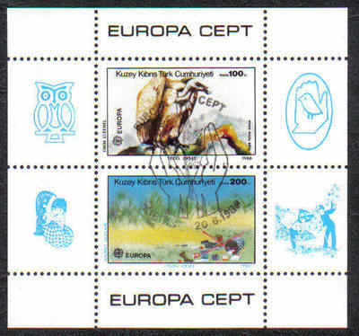 North Cyprus Stamps SG 187 MS 1986 Europa Nature and the Environment - USED