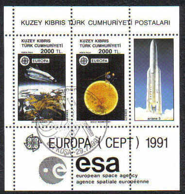 North Cyprus Stamps SG 306 1991 Europa Space - USED (d005)