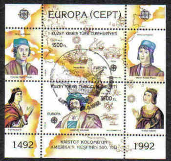 North Cyprus Stamps SG 334 1992 Discovery of America - USED (d002)