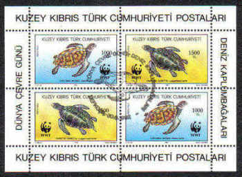 North Cyprus Stamps SG 335 1992 Turtles - USED (d001)