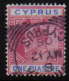 Cyprus Stamps SG 052 1903 One Piastre - USED (d059)