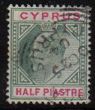 Cyprus Stamps SG 050 1902 Half Piastre - USED (d052)