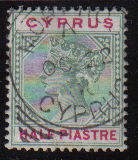 Cyprus Stamps SG 040 1896 Half Piastre - Used (d032)