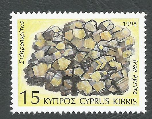 Cyprus Stamps SG 935 1998 15c Iron Pyrite - MINT