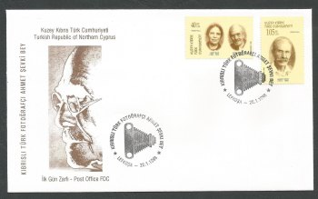 North Cyprus Stamps SG 459-60 1998 Ahmet and Ismet Photographers - Official FDC