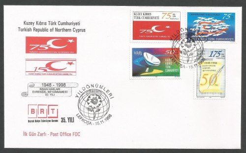 North Cyprus Stamps SG 481-84 1998 Anniversaries - Official FDC