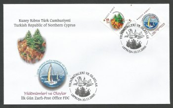 North Cyprus Stamps SG 642-43 2006 Anniversaries and Events - Official FDC
