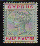 Cyprus Stamps SG 040 1896 Half piastre - MLH (d031)