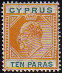 Cyprus Stamps SG 061 1906 10 Paras - MLH