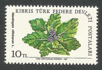 North Cyprus Stamps SG 111 1981 10TL - MINT