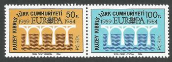 North Cyprus Stamps SG 148-49 1984 Europa Bridge - Position B MINT