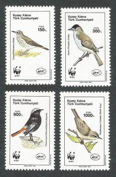North Cyprus Stamps SG 278-81 1990 Birds - MINT