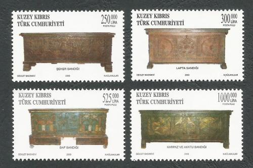 North Cyprus Stamps SG 574-77 2003 Wooden Chests - MINT