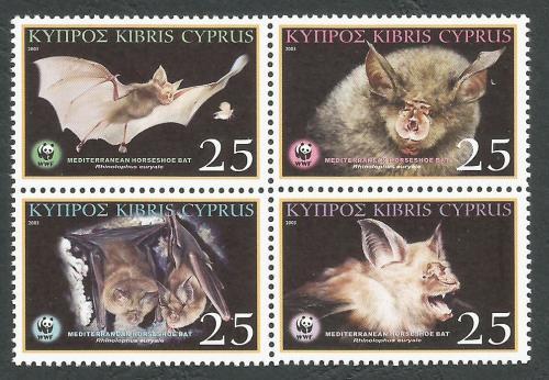 Cyprus Stamps SG 1053-56 2003 Mediterranean Horseshoe Bat - MINT