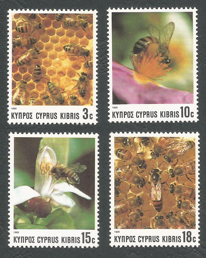 Cyprus Stamps SG 748-51 1989 Bees - MINT
