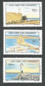 North Cyprus Stamps SG 322-24 1991 Cyprus Lighthouses,  - MINT