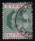 Cyprus Stamps SG 062 1904 Half Piastre - USED (d096)