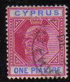 Cyprus Stamps SG 064 1904 One Piastre - Used (d088)