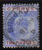 Cyprus Stamps SG 065 1904 Two Piastres - USED (d084)