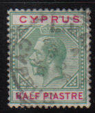 Cyprus Stamps SG 075 1912 Half Piastre - Used (d075)