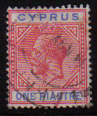 Cyprus Stamps SG 077 1912 One Piastre - Used (d067)
