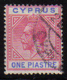 Cyprus Stamps SG 077 1912 One Piastre - Used (d066)
